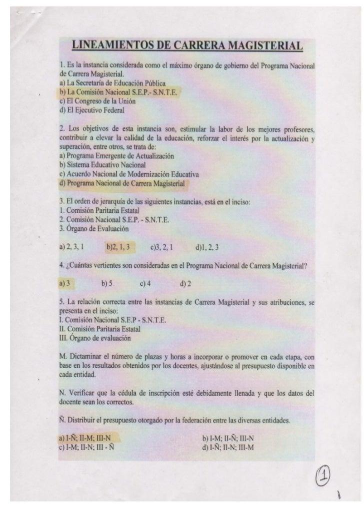Cuestionario estudio de carrera magisterial