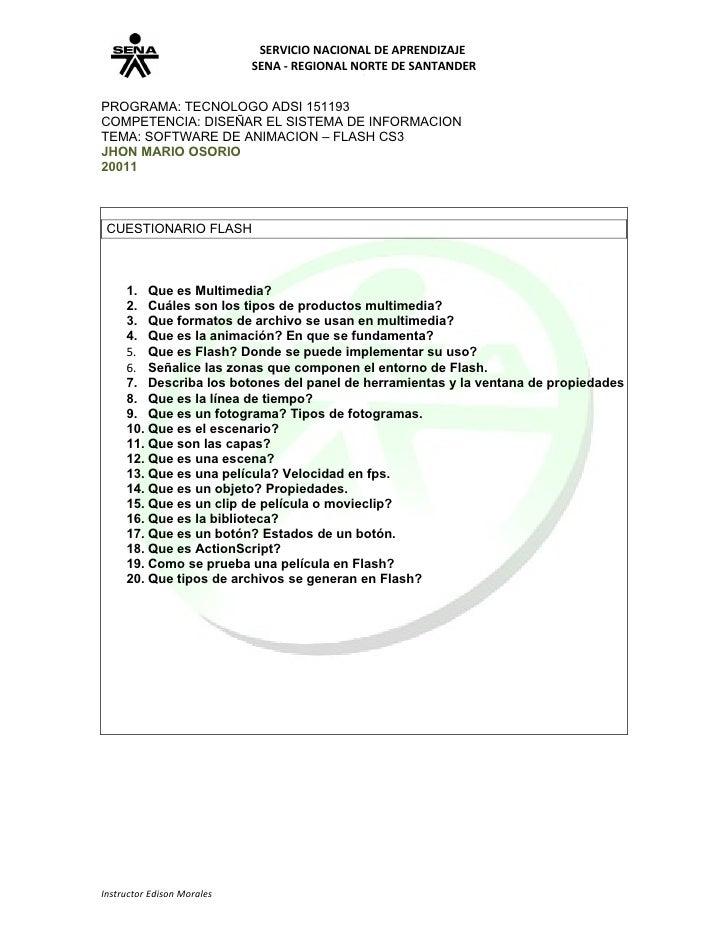 SERVICIO NACIONAL DE APRENDIZAJE                            SENA - REGIONAL NORTE DE SANTANDERPROGRAMA: TECNOLOGO ADSI 151...