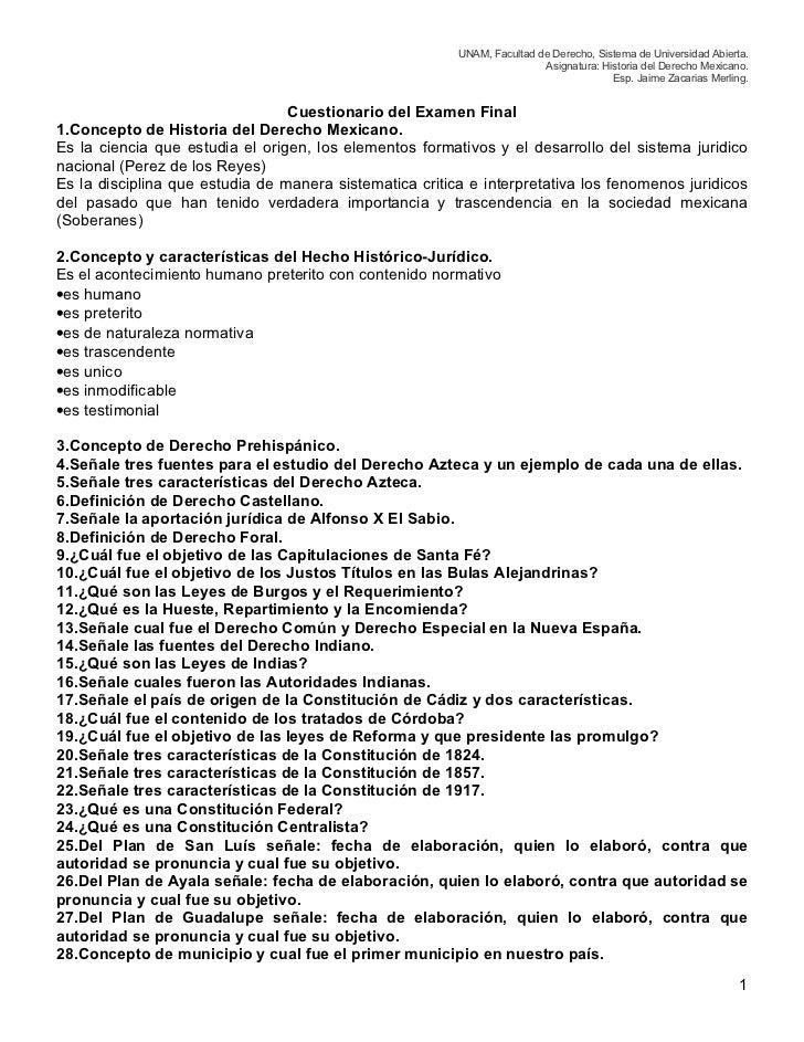 UNAM, Facultad de Derecho, Sistema de Universidad Abierta.                                                                ...