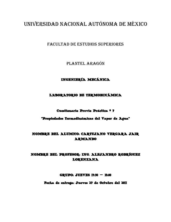 UNIVERSIDAD NACIONAL AUTÓNOMA DE MÉXICO         FACULTAD DE ESTUDIOS SUPERIORES                   PLANTEL ARAGÓN          ...