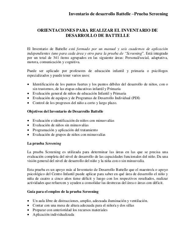 inventario de desarrollo battelle descargar pdf