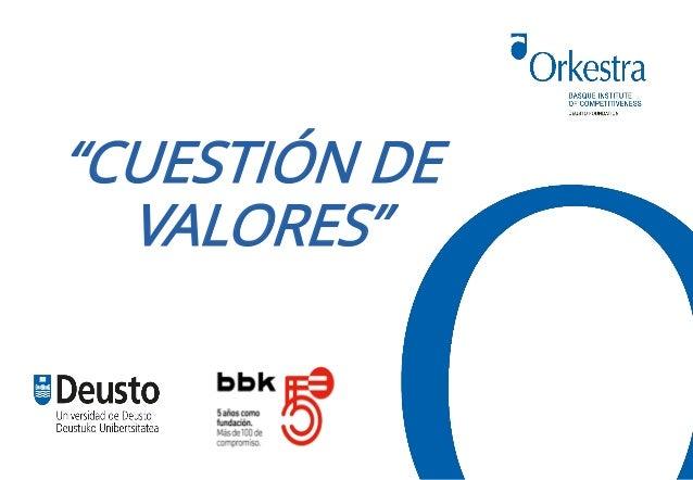 """""""CUESTIÓN DE VALORES"""""""