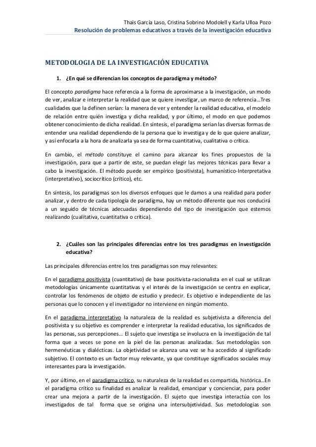 Thaïs García Laso, Cristina Sobrino Modolell y Karla Ulloa Pozo            Resolución de problemas educativos a través de ...
