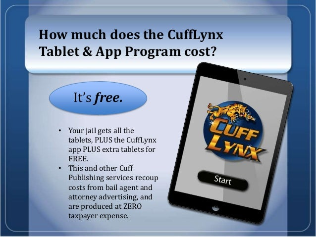 Cuff Lynx - The Tablet Application for Jails