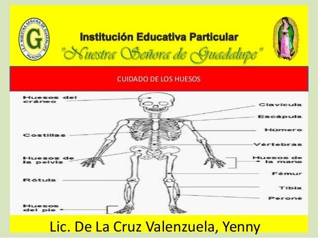CUIDADO DE LOS HUESOS Lic. De La Cruz Valenzuela, Yenny