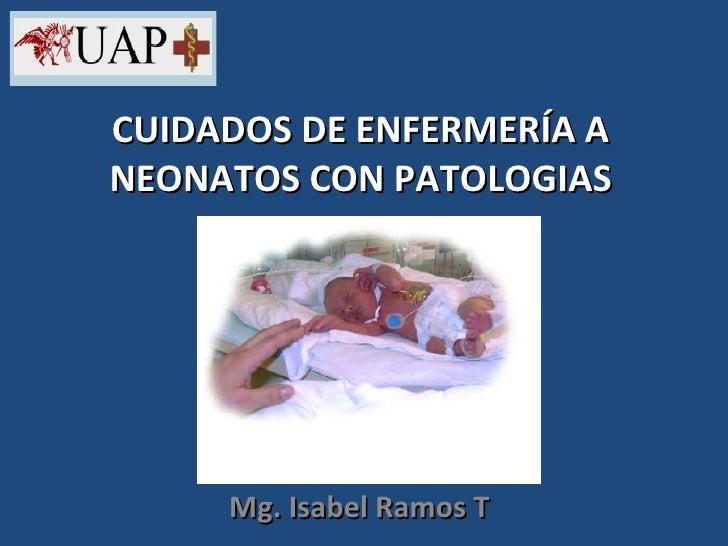 Cuidados de enfermería a neonatos con patologias