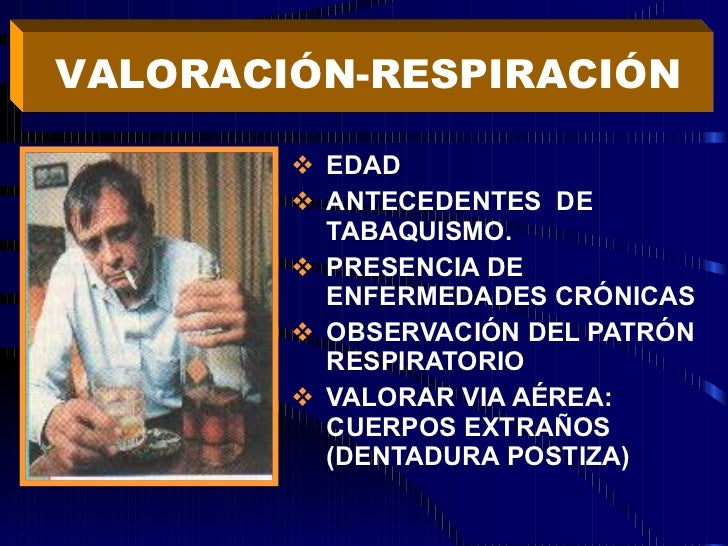 <ul><li>EDAD  </li></ul><ul><li>ANTECEDENTES  DE TABAQUISMO. </li></ul><ul><li>PRESENCIA DE ENFERMEDADES CRÓNICAS </li></u...