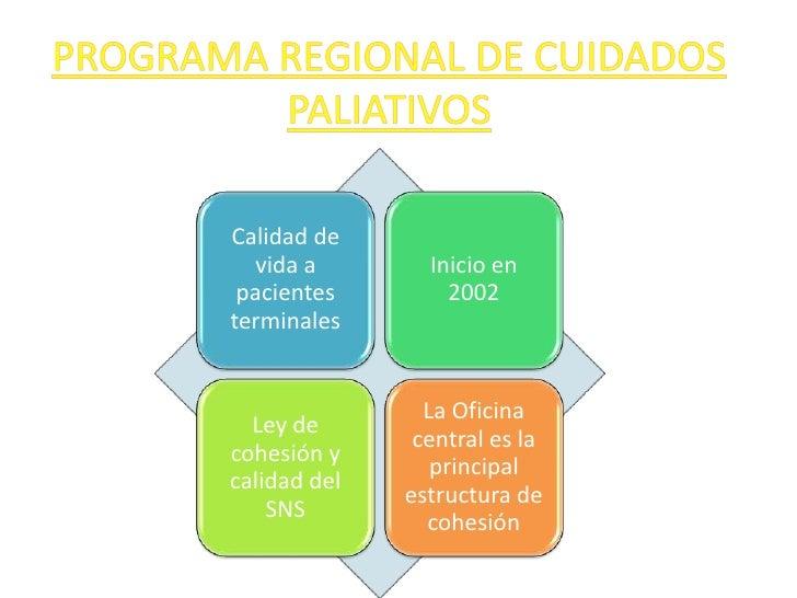 PROGRAMA REGIONAL DE CUIDADOS PALIATIVOS<br />
