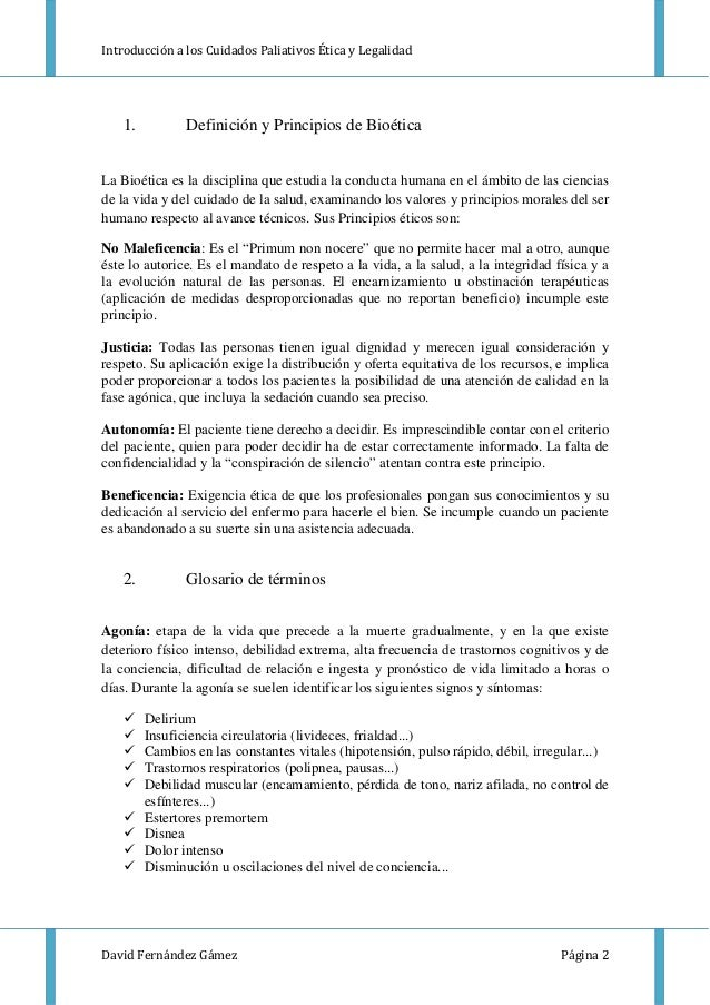 Cuidados Paliativos: Legalidad y Bioetica Slide 3
