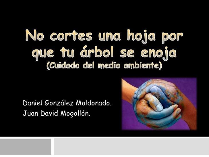 Daniel González Maldonado.Juan David Mogollón.