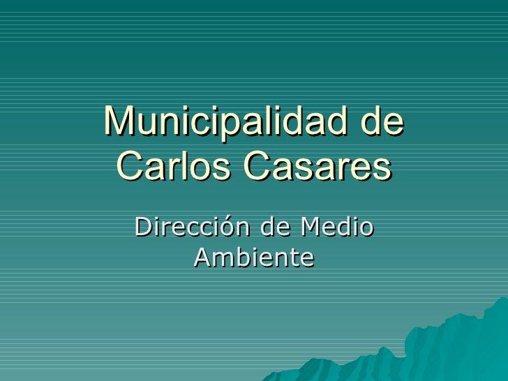 Municipalidad de Carlos Casares  Dirección de Medio       Ambiente