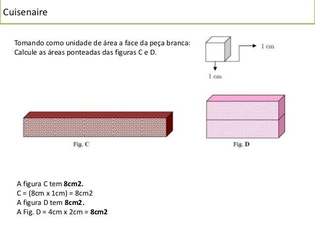 Cuisenaire  A E =2cm2+2cm2+2cm2+2cm2+1cm2+1cm2   AR =  =10cm2                               8cm2+8cm2+4cm2+4cm2+2cm2+2cm2 ...
