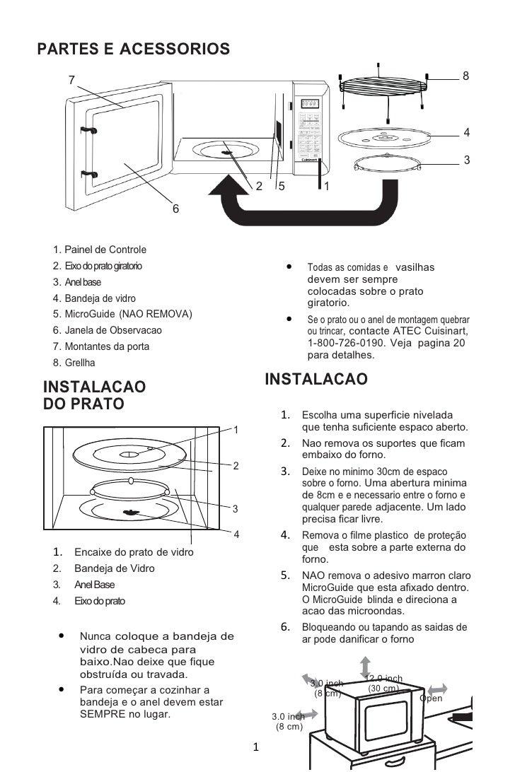 Manual em Português do Convection Microwave Oven and Grill - CMW-200
