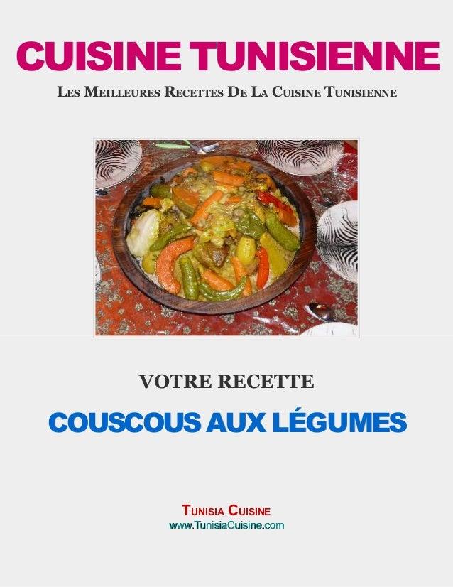 Couscous tunisien aux l gumes - Recette cuisine couscous tunisien ...