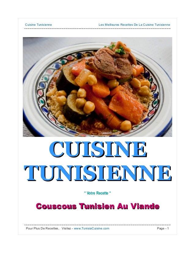 Couscous tunisien au viande cuisine tunisienne - Recette cuisine couscous tunisien ...