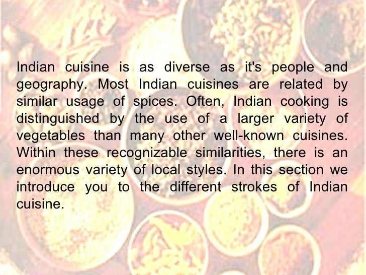 Delicious indian cuisine Cuisines of india