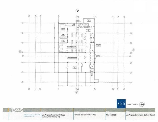 Proposal for Renovation of Culinary Arts School at Los