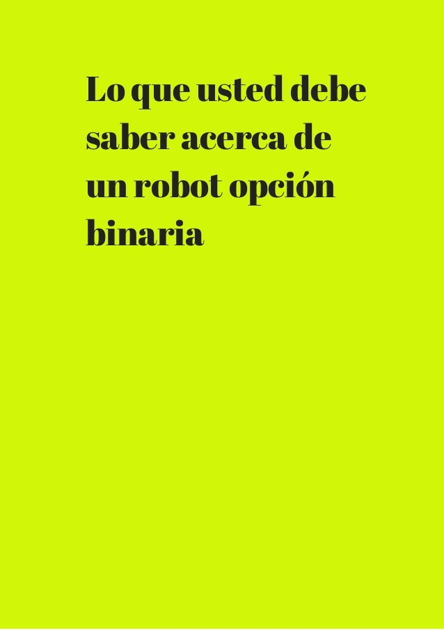 Cu l es la mejor binario opciones robot - Cual es la mejor freidora ...