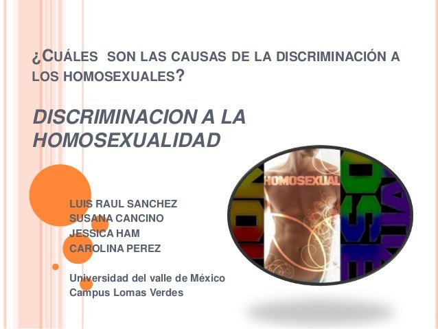 Causas y efectos del homosexualismo
