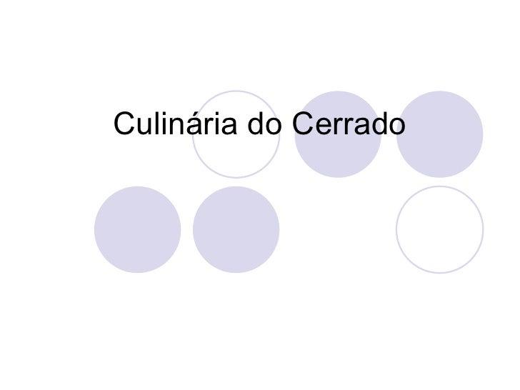 Culinária do Cerrado