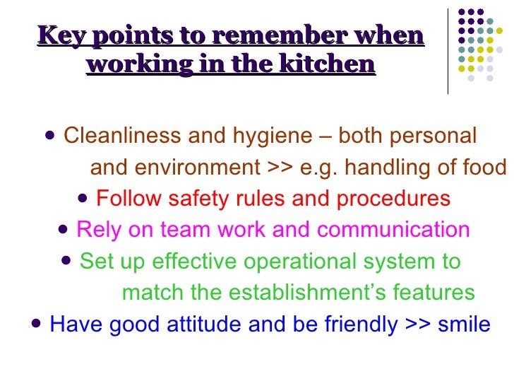 hygiene rules in the kitchen