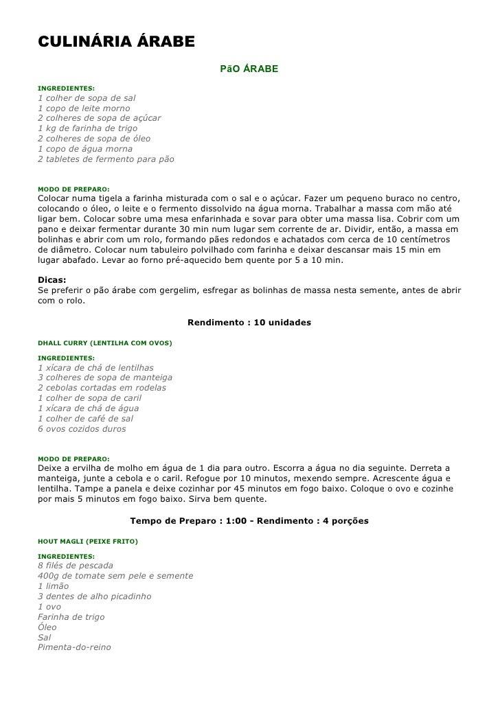 Culináriaárabe1