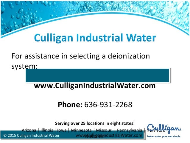Culligan Deionization Systems