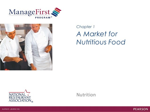 Nutrition A Market for Nutritious Food Chapter 1