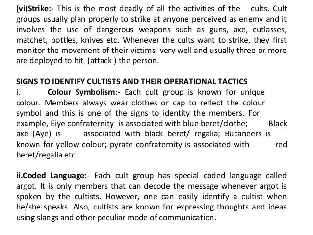Cultism in nigeria