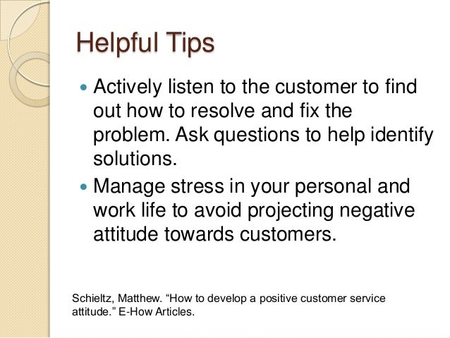 customer and personal service