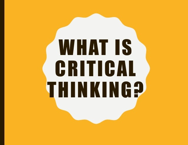 what is a critical thinking class If you've fallen behind studying critical thinking topics, use this study guide course to get back on track and get a better grade in class watch.