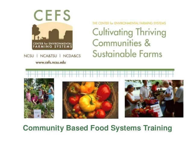 Community Based Food Systems Training