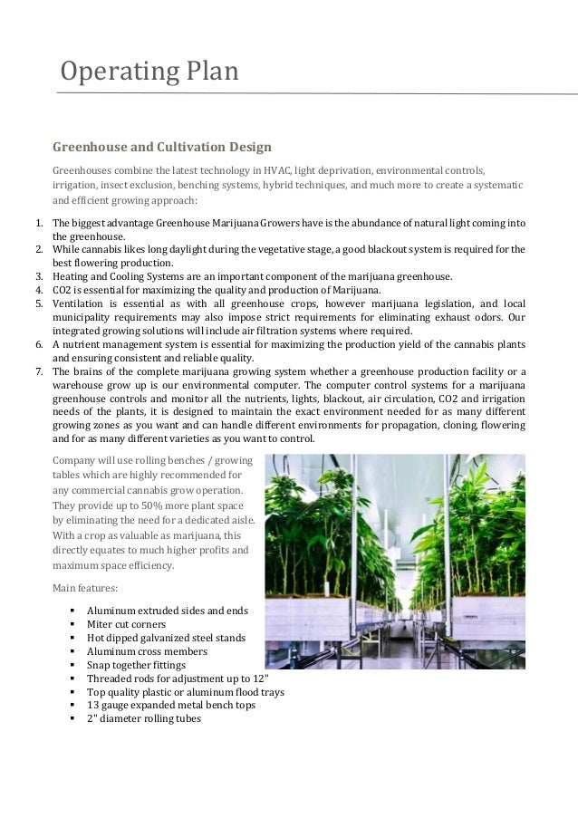 cannabis cultivation business plan template