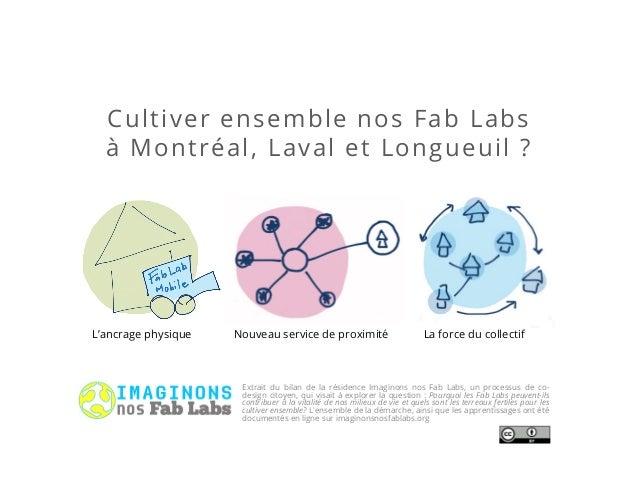Cultiver ensemble nos Fab Labs à Montréal, Laval et Longueuil ? Extrait du bilan de la résidence Imaginons nos Fab Labs, u...