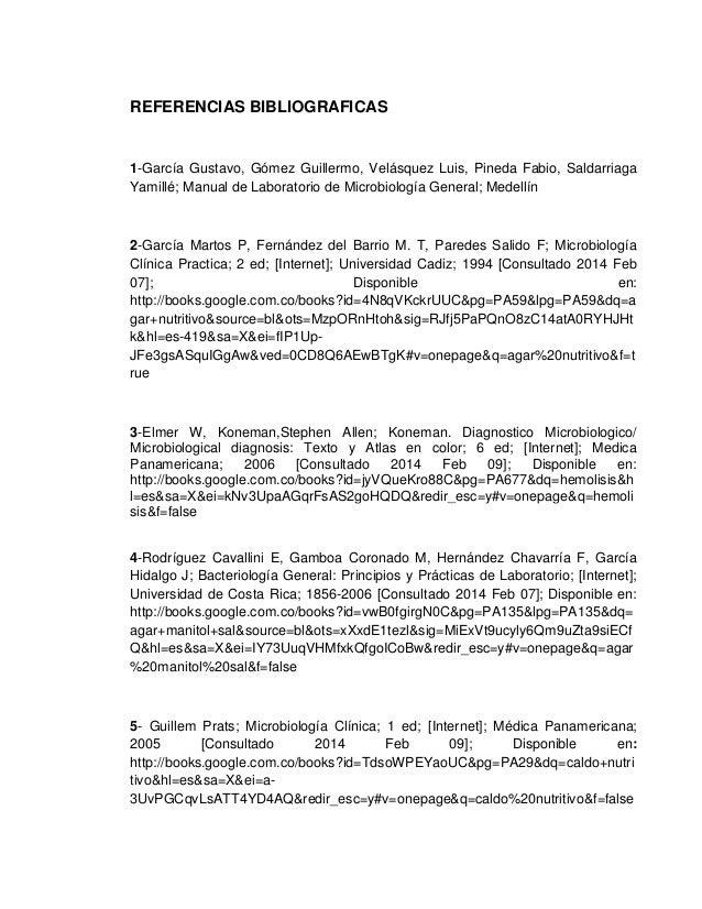 REFERENCIAS BIBLIOGRAFICAS  1-García Gustavo, Gómez Guillermo, Velásquez Luis, Pineda Fabio, Saldarriaga Yamillé; Manual d...