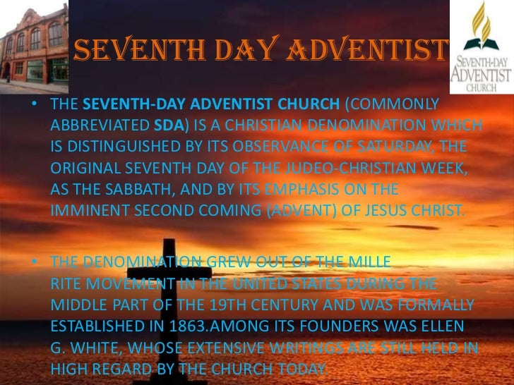 Seventh A Are Day Cult Adventists