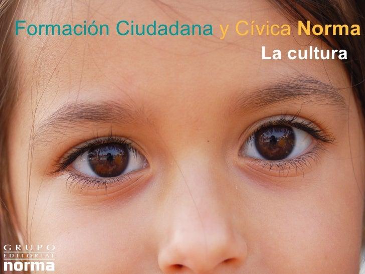 Formación Ciudadana   y Cívica  Norma La cultura