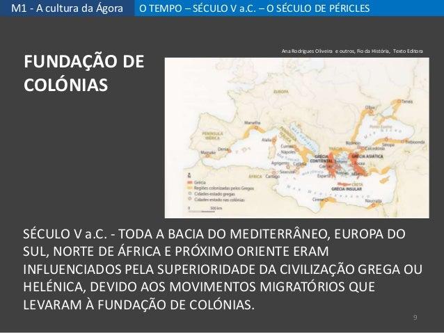 M1 - A cultura da Ágora O TEMPO – SÉCULO V a.C. – O SÉCULO DE PÉRICLES SÉCULO V a.C. - TODA A BACIA DO MEDITERRÂNEO, EUROP...