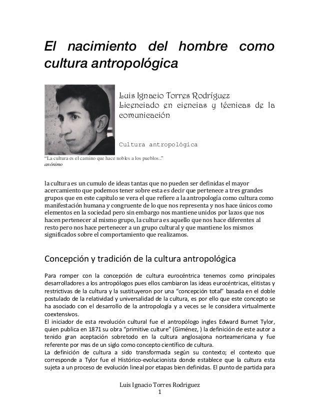 análisis sociosemiótico de la Cultura antropologica