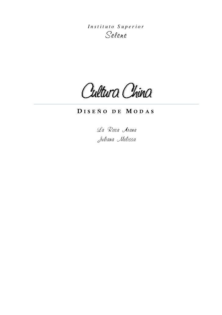 Instituto SuperiorDISEÑO DE MODAS    La Rosa Arana    Juliana Melissa