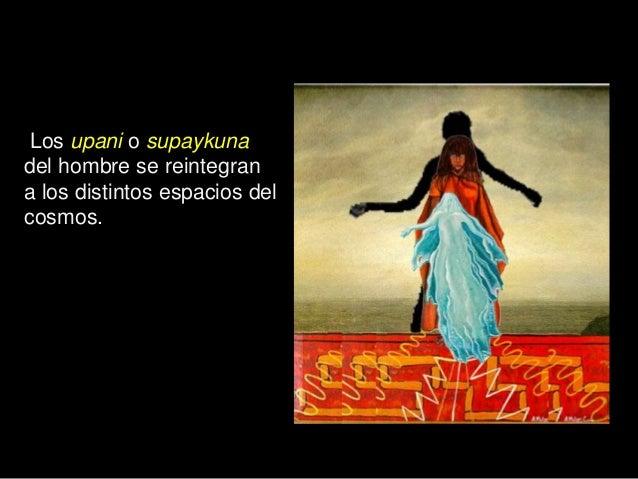 Los upani o supaykuna del hombre se reintegran a los distintos espacios del cosmos.