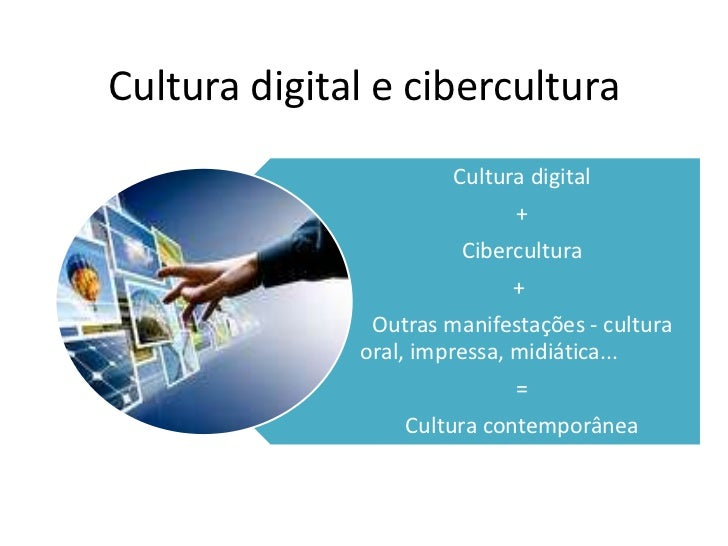 Cultura digital e cibercultura                       Cultura digital                             +                        ...