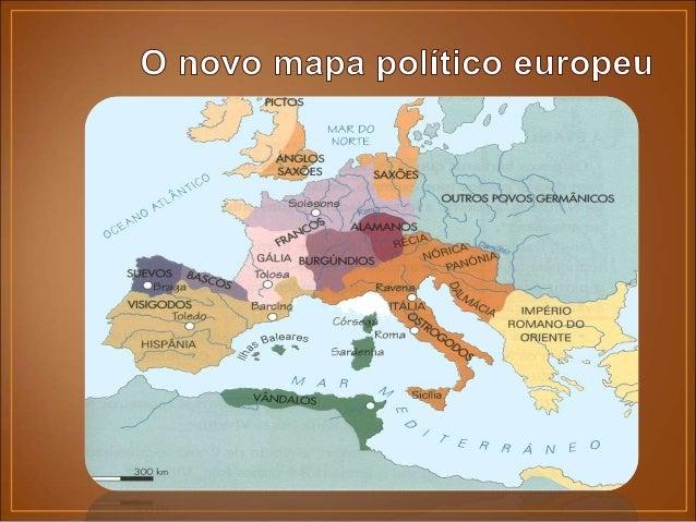 • Nos finais do séc. V, a grande força política europeia eram os francos. • Com Clóvis, em 497, converteram-se ao cristian...