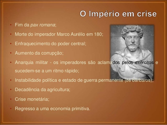 • As reformas de Diocleciano: • reorganização do exército, • reorganização do sistema monetário, • reorganização do sistem...