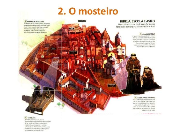 Os mosteiros          Instalados     em     zonas           isoladas (fuga mundi)          Pequenos          mundos     ...
