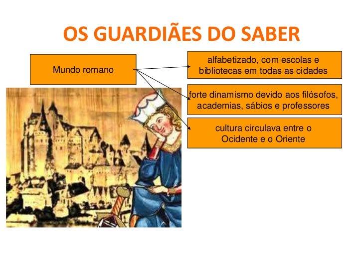 OS GUARDIÃES DO SABER    O renascimento carolíngio (século IX)                  Objetivos de Carlos Magno:                ...