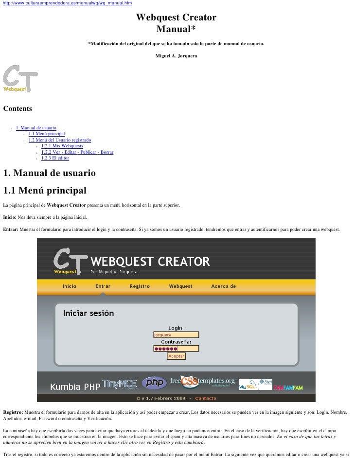 http://www.culturaemprendedora.es/manualwq/wq_manual.htm                                                                  ...