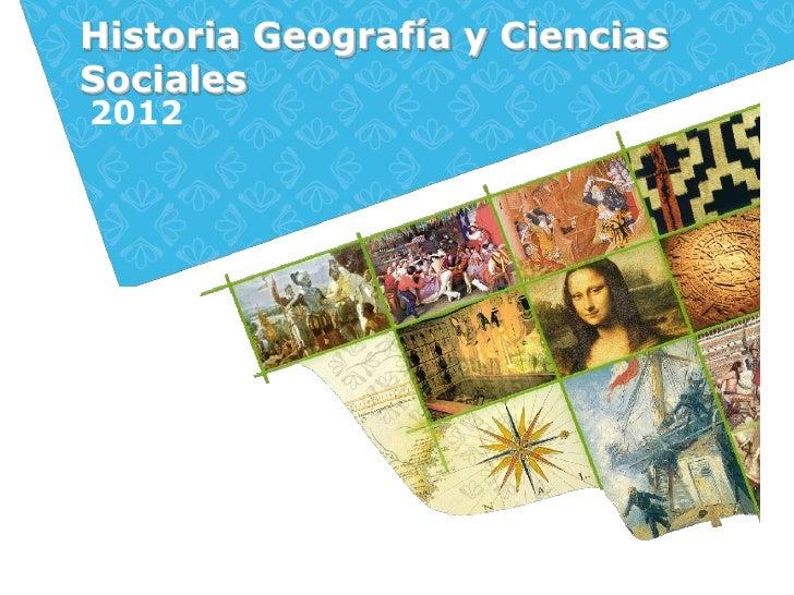 Historia Geografía y CienciasSociales2012