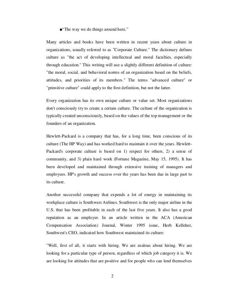 Sample Essay About Organizational Behavior - Essay for you