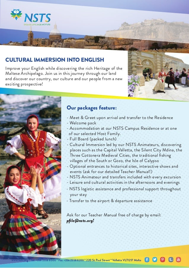 CULTURAL IMMERSION INTO ENGLISH Improve your English while discovering the rich Heritage of the Maltese Archipelago. Join ...
